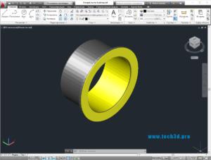 3D модель фланцевой втулки скольжения