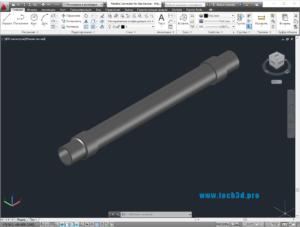 3D модель подводки-сильфона для газа