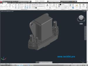 3D модель авиационного реле-контактора