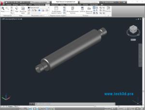 3D модель компенсатора металлического для отопления