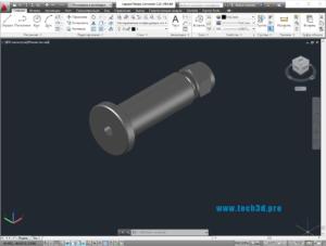 3D модель разъема с приварным фланцем