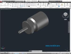 3D модель штуцера напорной трубы