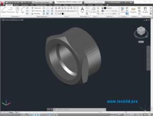 3D модель коллекторного переходника