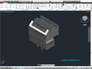 3D модель мотор-реверсивного контактора
