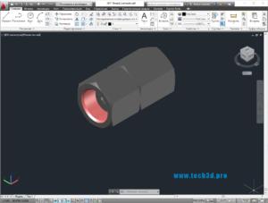 3D модель штуцера NPT с внутренней резьбой