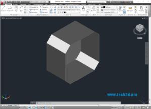 3D модель восьмиугольного корпуса
