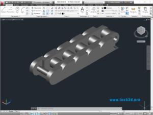 3D модель цепи пластиковой приводной