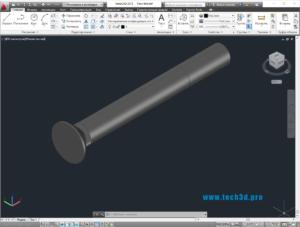 3D модель болта плуга