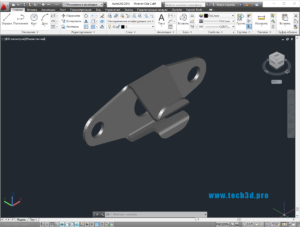 3D модель металлической клипсы зажима