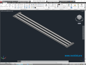 3D модель цепи трубчатой