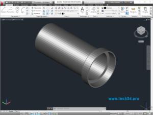 3D модельцилиндрического металлического корпуса