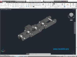 3D модель цепи вагонетки