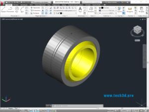 3D модель радиально-упорного сферического подшипника