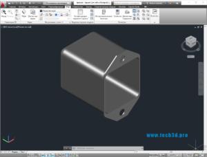 3D модель квадратного металлического корпуса