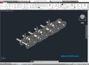 3D модель цепи стапельной