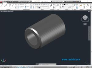 3D модель муфты прямолинейной