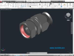 3D модель коннектора шарнирного