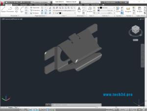 3D модель клипсы металлической под саморез