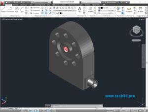 3D модель универсального датчика нагрузки