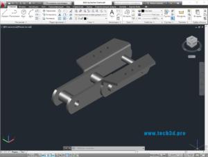 3D модель цепи отсадочной машины