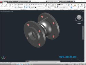 3D модель резиновой гибкой муфты