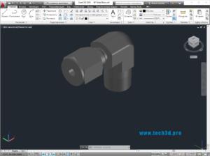 3D модель трубного отвода 90 градусов