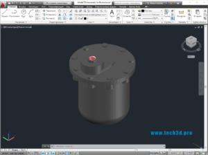 3D модель воздушного каплеуловителя