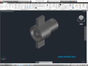 3D модель муфты равнопроходной