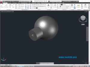 3D модель шарообразной ручки