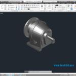 Мотор-редуктор цилиндрический соосный