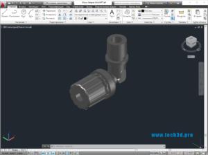 3D модель вентиля радиаторного углового