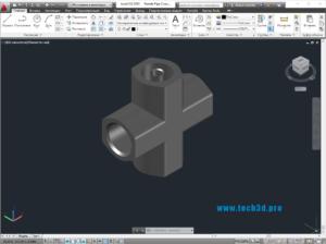 3D модель крестовины с ниппелем