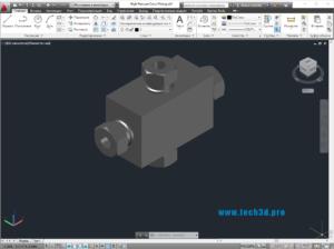 3D модель крестовины высокого давления