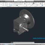 3D модель червячного редуктора