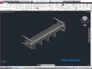 3D модель гребенки отводов