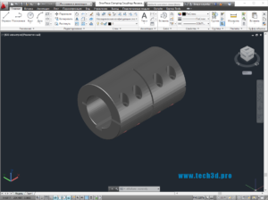 3D модельмуфты жесткой с болтами