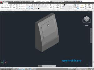 3D модель крышки-клапана для вентиляции
