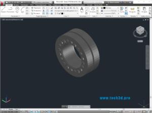 3D модель стяжной муфты