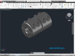 3D модель зажимной муфты для стальных труб