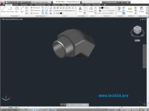 3D модель отвода малого радиуса