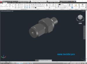 3D модель муфты с уплотнительным кольцом