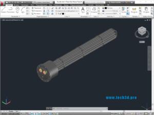 3D модель теплообменника с u-образными трубками