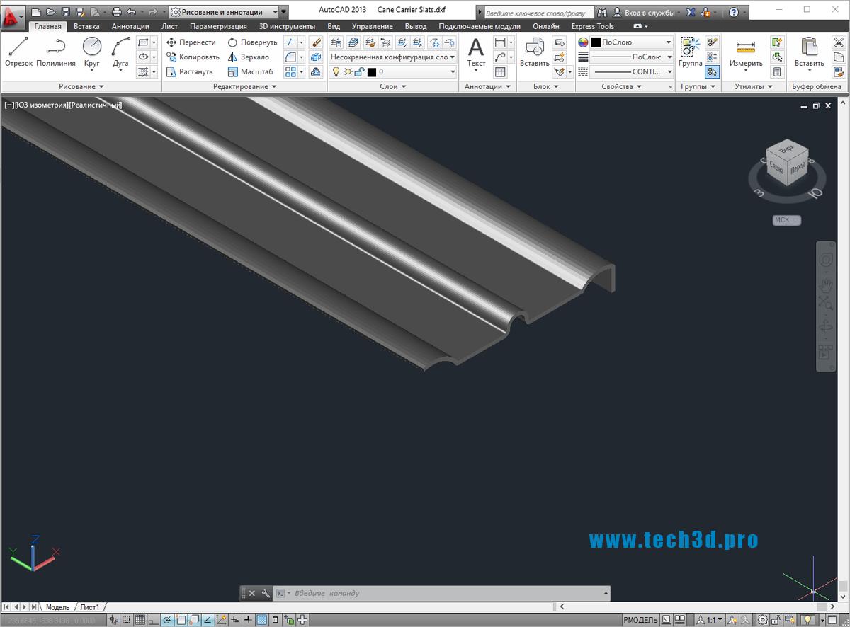 3D модель стальной ламели