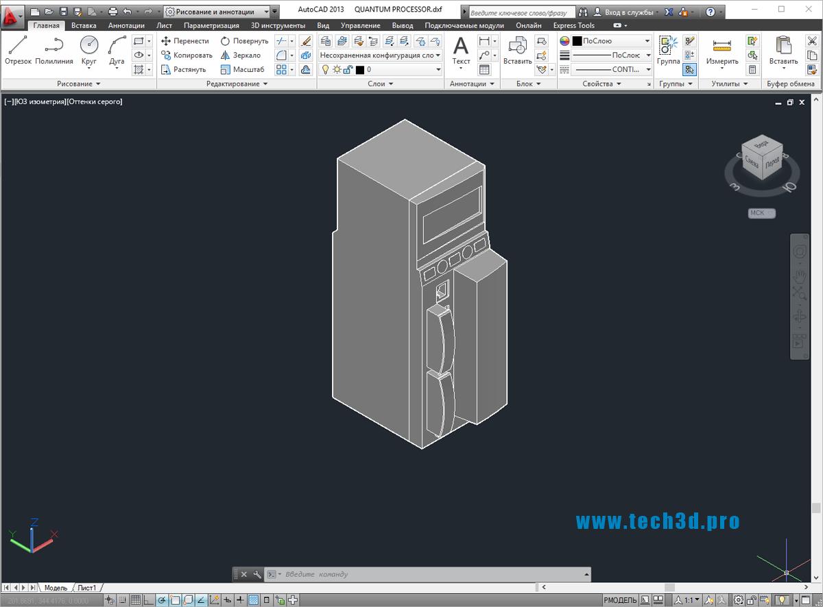 3D модель ПЛК Schneider