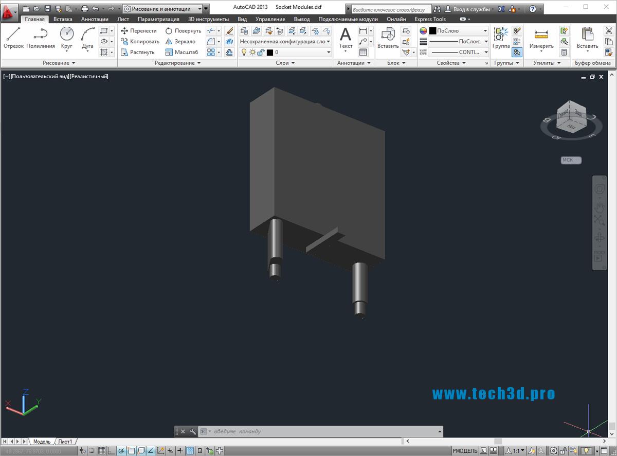 3D модель коннектора Schneider