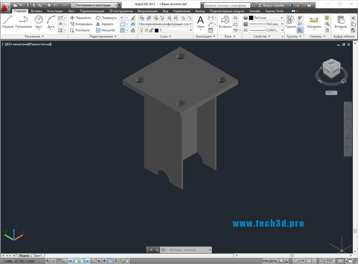 3D модель самодельного анкера