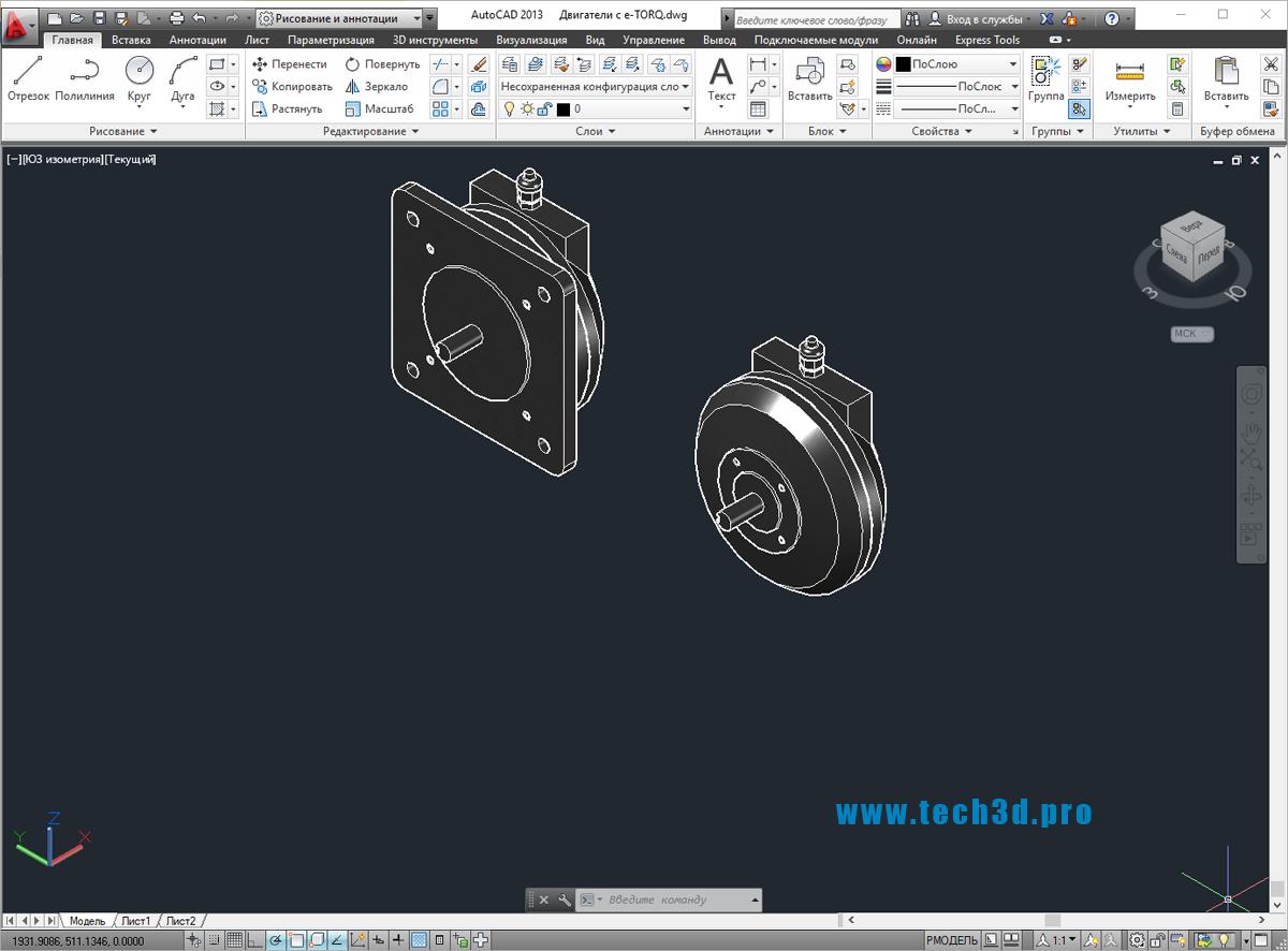 3D модели двигателей с e-TORQ