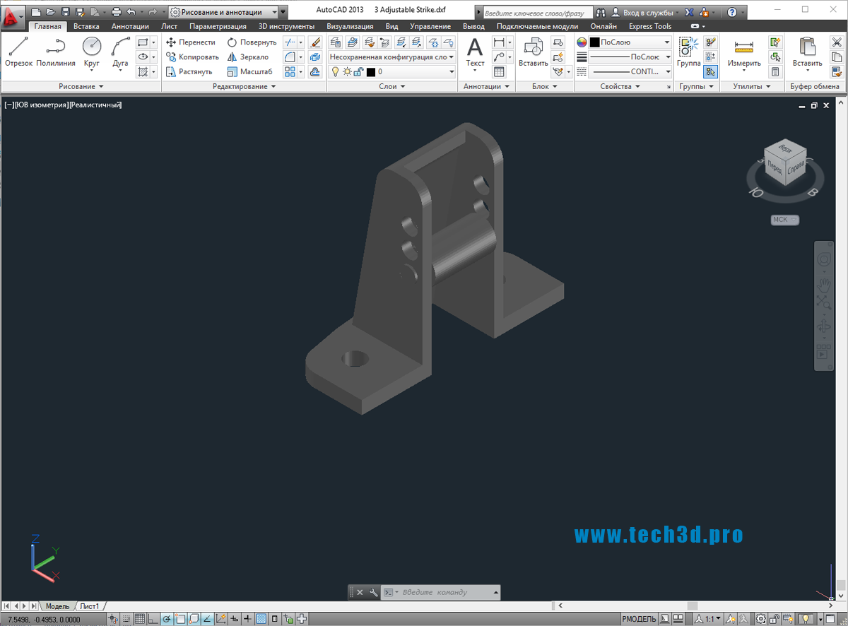 3D модель направляющих роликов для лебедок
