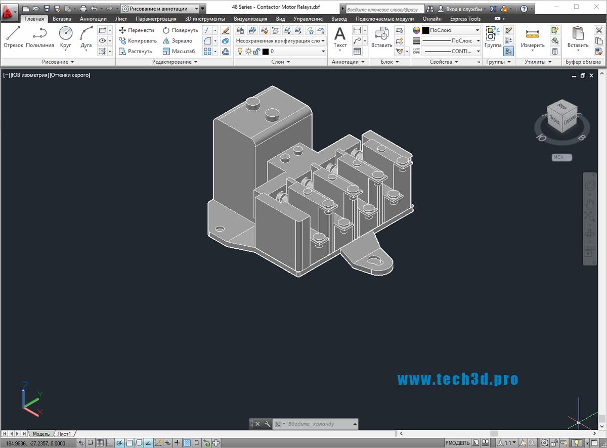 3D модель реле для двигателя Schneider