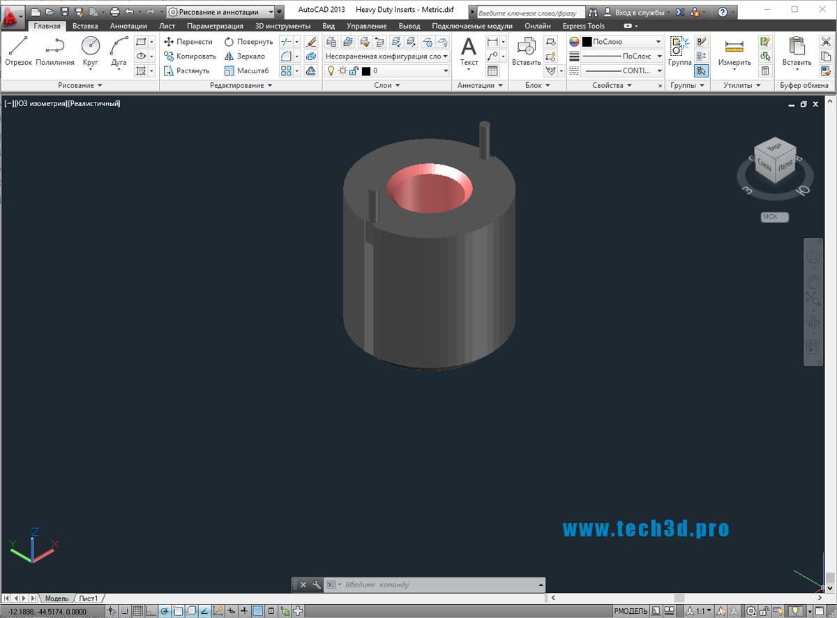 3D модели вставок специализированных
